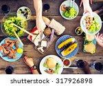 food table celebration...   Shutterstock . vector #317926898