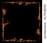 Fire Frame Isolated On Black...