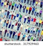 diversity success celebration... | Shutterstock . vector #317929463