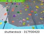 artificial climbing wall with a ... | Shutterstock . vector #317930420