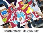 social media social networking... | Shutterstock . vector #317932739