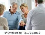 couple attending group therapy | Shutterstock . vector #317933819
