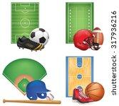 sport icons set | Shutterstock .eps vector #317936216