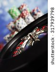 casino roulette and playing... | Shutterstock . vector #317939798