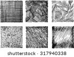 set of sketch textures  | Shutterstock .eps vector #317940338