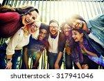 bonding community friends team...   Shutterstock . vector #317941046