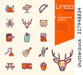 lineo colors   camping and... | Shutterstock .eps vector #317948834