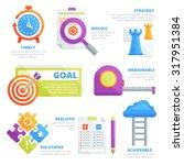 flat design elements of goal... | Shutterstock .eps vector #317951384