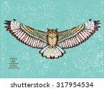 Zentangle Stylized Eagle Owl....