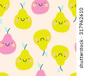 cute seamless pattern with... | Shutterstock .eps vector #317962610
