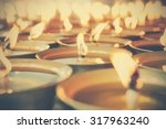 Spiritual Oil Lamps In Temple....