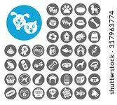 pets icons set. illustration...   Shutterstock .eps vector #317963774