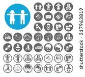 preschool icons set.... | Shutterstock .eps vector #317963819