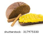 black bread with jam and... | Shutterstock . vector #317975330