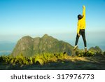 man jumping celebrating success ... | Shutterstock . vector #317976773