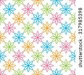 flowers seamless pattern.... | Shutterstock .eps vector #317985398