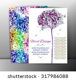 floral cards with flowers.... | Shutterstock .eps vector #317986088