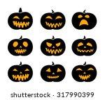set of black silhouette... | Shutterstock .eps vector #317990399