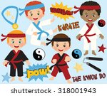 karate boys | Shutterstock .eps vector #318001943