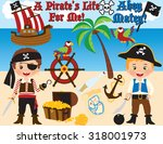 pirate boys | Shutterstock .eps vector #318001973
