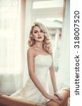 beautiful bride with stylish...   Shutterstock . vector #318007520
