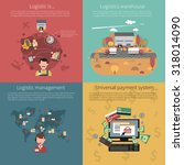design concept set for logistic ... | Shutterstock . vector #318014090