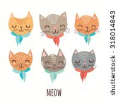cute cats in vector. | Shutterstock .eps vector #318014843