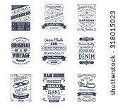 classical denim jeans... | Shutterstock . vector #318015023