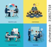 conference design concept set... | Shutterstock . vector #318017318