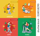 exercise machines design... | Shutterstock . vector #318018290