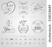 calligraphy design elements... | Shutterstock . vector #318018689