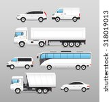 realistic transport icons set... | Shutterstock . vector #318019013