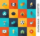 entertaining icons flat set... | Shutterstock . vector #318020720