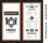 restaurant menu template with... | Shutterstock . vector #318021608