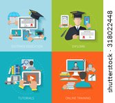 online education design concept ... | Shutterstock . vector #318022448