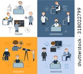 science design concept set with ... | Shutterstock . vector #318022799