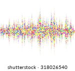 music square waveform... | Shutterstock .eps vector #318026540