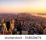 new york city at sunset | Shutterstock . vector #318028676