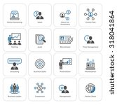 business and finances icons set.... | Shutterstock .eps vector #318041864