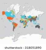 world map countries | Shutterstock .eps vector #318051890