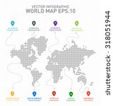 digital world map countries ... | Shutterstock .eps vector #318051944