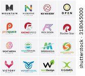 set of letter logo design... | Shutterstock .eps vector #318065000