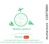 advertising for a travel agency ... | Shutterstock .eps vector #318078884
