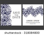 vintage delicate invitation... | Shutterstock .eps vector #318084800