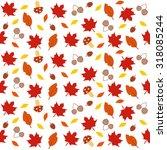autumn leaves pattern | Shutterstock .eps vector #318085244