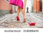 woman injured ankle while... | Shutterstock . vector #318088604