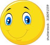 happy smile emoticon on white... | Shutterstock .eps vector #318091559