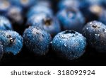 natural fresh blueberries... | Shutterstock . vector #318092924
