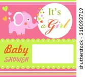 baby shower colorful card... | Shutterstock .eps vector #318093719