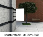 blank lightbox on the wall | Shutterstock . vector #318098750